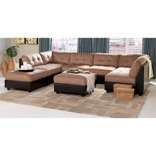 Coaster Sectional Sofa Coaster Furniture 551001 4 551002 2 Claude 6 Piece Brown Sectional