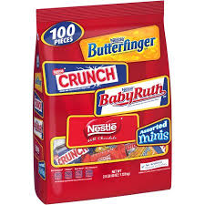 nestle assorted miniature candy bars 100 ct walmart com