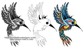 flowers and birds custom tattoos made to order by juno