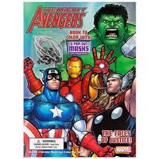 marvel avengers coloring book masks hobby lobby 598912