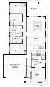 single storey house plans for narrow lots home act