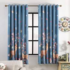 Navy Window Curtains Navy Blue Elk Patterned Beautiful Bay Window Curtains