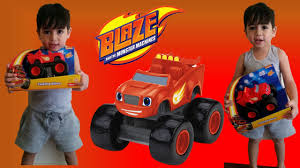 bigfoot and the mighty monster trucks unboxing talking blaze monster truck from blaze and the monster