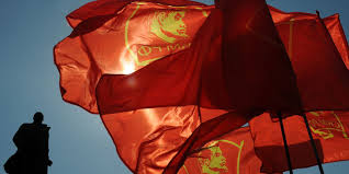 Communist Flag Russia Moscow Revives Red Square May Day Parade