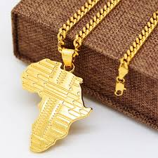 african gold necklace images Jhnby gold color plated africa map pendants necklaces high quality jpg