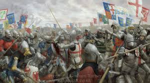 the siege of harfleur detail images from battle of agincourt painting