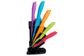 coloured kitchen knives andrew coloured knife set with stand kitchen from andrew