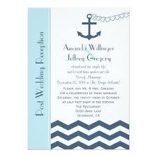 Post Wedding Invitations Post Wedding Reception Invitation Nautical Zazzle Com