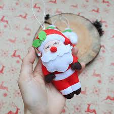 ornament santa claus plush santa ornament tree