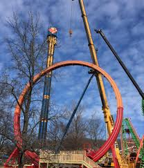 Six Flags St Louis Missouri 2016 Neuheit Fireball Giant Loop Larson Six Flags St Louis