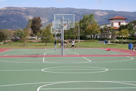 how to paint an outdoor basketball court diy e2 80 93 amy ruth