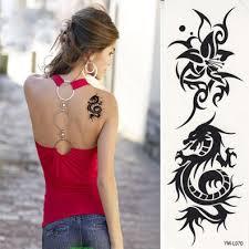 luminous temporary dragon tattoos totem butterfly tattoo sticker