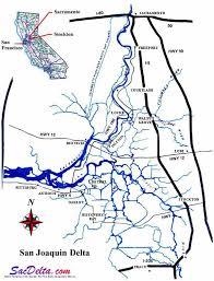 san francisco delta map map of san joaquin delta