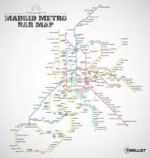 Madrid Subway Map by Kate Peregrina Thrillist