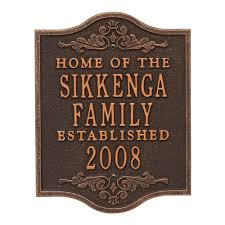 wedding plaques personalized whitehall products buena vista square standard wall 3 line