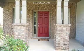 red front door decorating cents a red front door