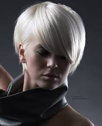 short white hair short white hair clipped short and styled behind the ear