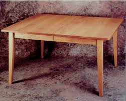 classic shaker style dining table in cherry wood furniture
