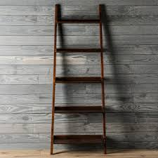 shop allen roth java 5 shelf bookcase at lowes com