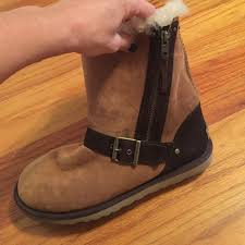 zipper ugg boots sale 68 ugg shoes brown ugg boots with zipper on side from