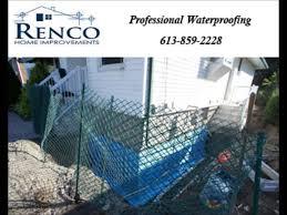 renco home improvements basement leak repair ottawa youtube