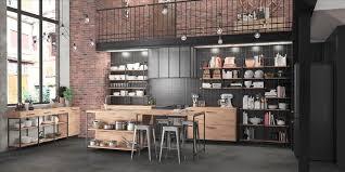 cuisine loft cuisine loft style industriel et yorkais dans une cuisine ouverte