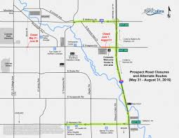 Colorado State University Campus Map by Prospect Exit From I 25 To Be Closed Until Late August