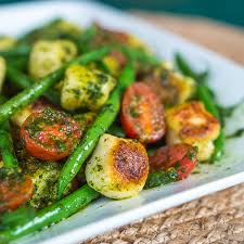 cuisine haricots verts pesto gnocchi with haricots verts and grape tomatoes southern