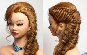 cool hair designs for long hair hairstyle for party medium long hair tutorial youtube beautiful