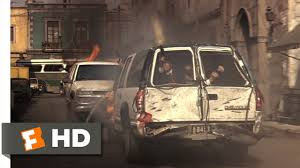 armored jeep after an attack by mexican cartel clear and present danger 3 9 movie clip motorcade ambush 1994