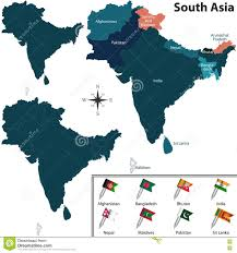 Map Of South Asia by Political Map Of South Asia Stock Photo Image 74679882