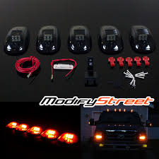 5 x led cab roof clearance running marker lights for truck