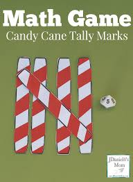 math game candy cane tally marks a free printable with ideas for