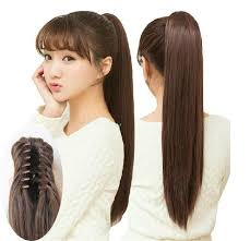 claw hair hairstyles lady women s multi color long straight synthetic ponytail with