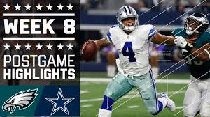 eagles vs cowboys nfl week 8 highlights
