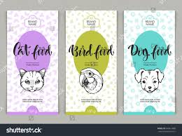 vector set templates packaging pets food stock vector 649613989