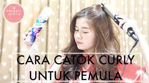 Catokan Rambut Sosis cara catok curly untuk pemula indonesia