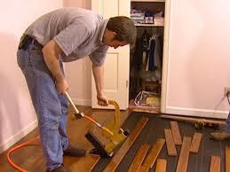 Laminate Floor Joists How To Install A Hardwood Floor Hgtv