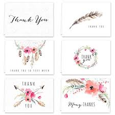 thank you card for boho spirit thank you card assortment pack set of