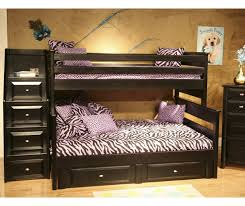 twin over full bunk bed with storage kids stairway chest bed