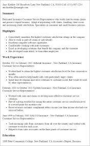 customer service representative resume insurance customer service representative resume menu and resume