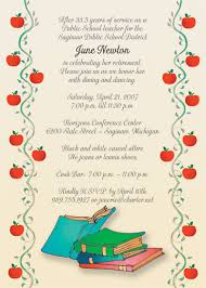 teacher retirement party invitation card and announcement template
