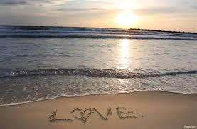 Sand Beach by Love Writen On Beach Sand At Sunset Stock Photo By Photos8 Org