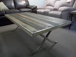 Aluminum Coffee Table I Am Saved Brushed Aluminum Styled Coffee Table