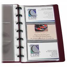 business card notebook binder builder business card holder junior refill 71537 c line