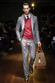 what color ties go well with a red sweater and white dress shirt