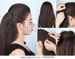 ripple hairstyle fashionable volume hairstyle ripple image photo bigstock