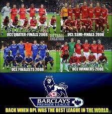 Premier League Memes - premier league back in 2008 soccer memes goal91