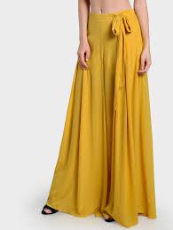 yellow pants for women us shein sheinside