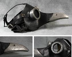 leather plague doctor mask icarus plague doctor mask in white steunk
